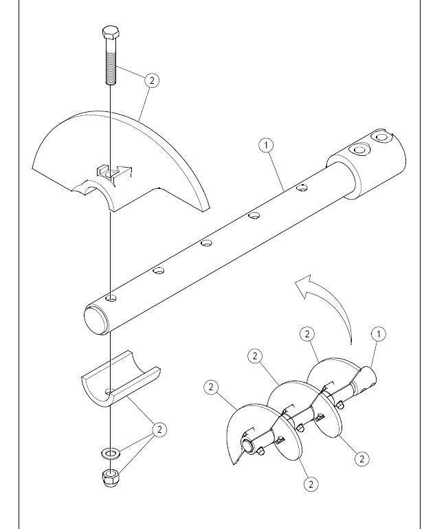 Detail photo of  Volvo Auger extension kit from Construction Equipment Guide