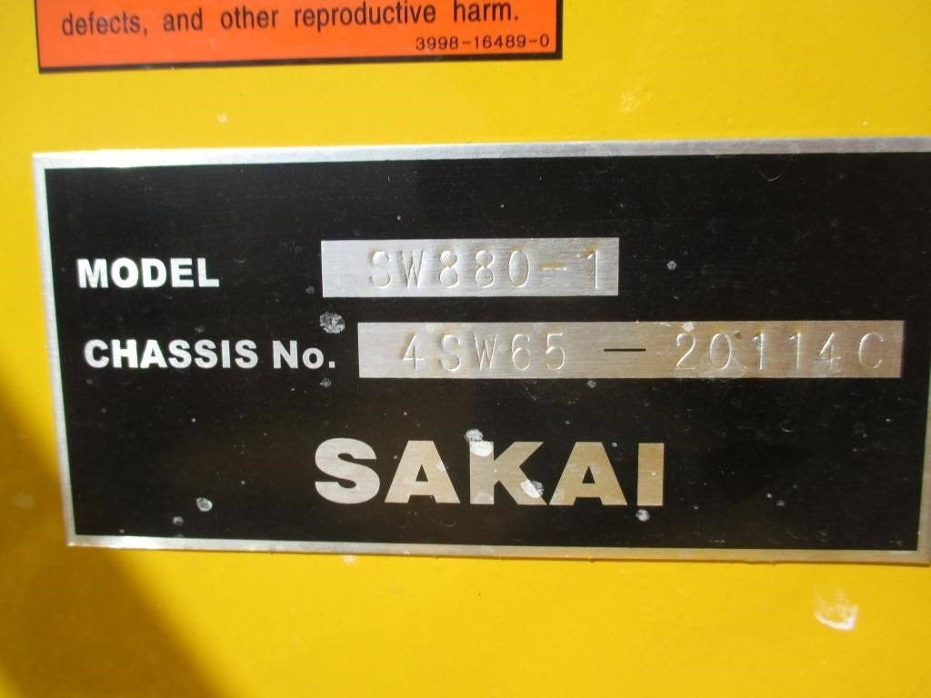 Detail photo of 2016 Sakai SW880 from Construction Equipment Guide
