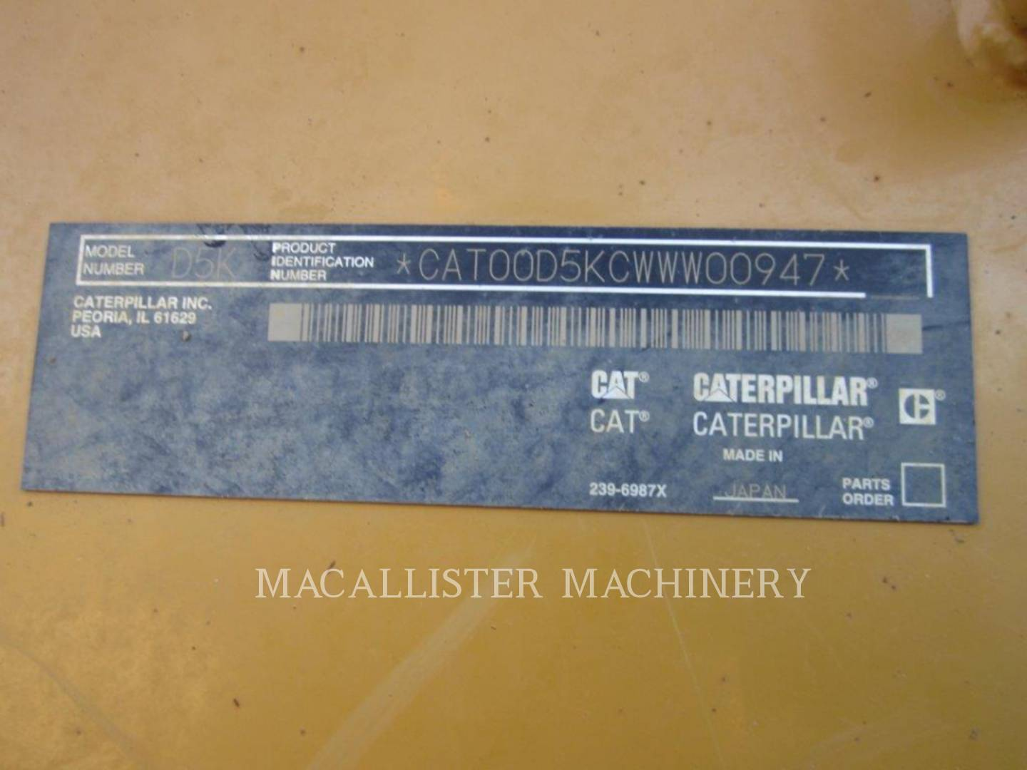 Detail photo of 2010 Caterpillar D5K XL from Construction Equipment Guide