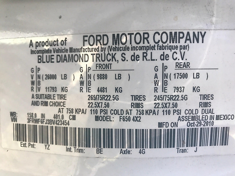 Detail photo of 2011 Ford F650 from Construction Equipment Guide