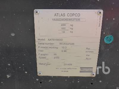 Detail photo of 2014 Atlas Copco XATS156DD from Construction Equipment Guide