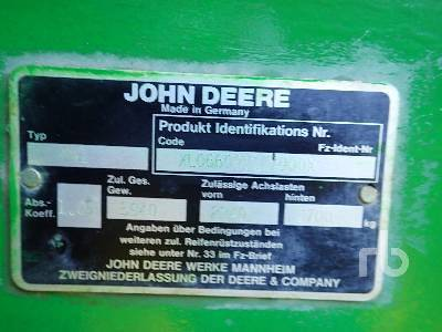 Detail photo of 1996 John Deere 6600 from Construction Equipment Guide