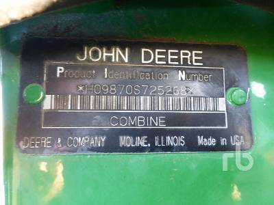 Detail photo of 2008 John Deere 9870STS from Construction Equipment Guide