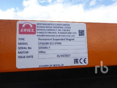 Detail photo of 2018 Eriez CP20/80SC2 from Construction Equipment Guide