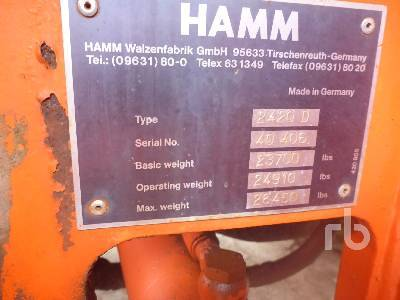 Detail photo of 1997 Hamm 2420D from Construction Equipment Guide