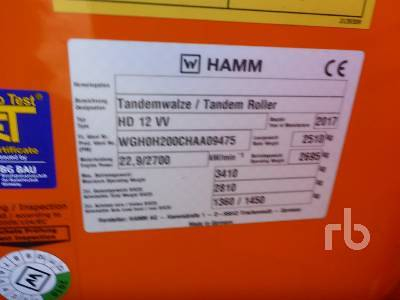 Detail photo of 2017 Hamm HD12VV from Construction Equipment Guide