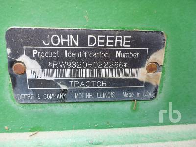 Detail photo of 2004 John Deere 9320 from Construction Equipment Guide