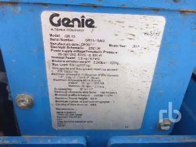 Detail photo of 2011 Genie GR-15 from Construction Equipment Guide