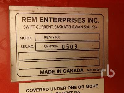 Detail photo of 2008 REM 2700 from Construction Equipment Guide