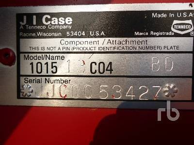 Detail photo of 1991 Case IH 1015 from Construction Equipment Guide