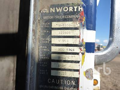 Detail photo of 1971 Kenworth W9258-2 from Construction Equipment Guide