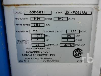 Detail photo of  GRAIN GUARD GGF-80511 from Construction Equipment Guide