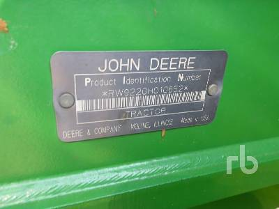 Detail photo of 2003 John Deere 9220 from Construction Equipment Guide
