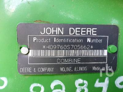 Detail photo of 2004 John Deere 9760STS from Construction Equipment Guide
