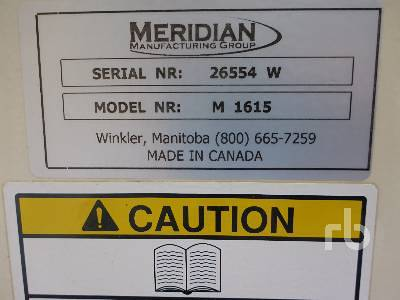 Detail photo of 2009 MERIDIAN M1615 from Construction Equipment Guide