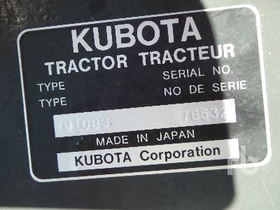 Detail photo of 2016 Kubota M108S from Construction Equipment Guide