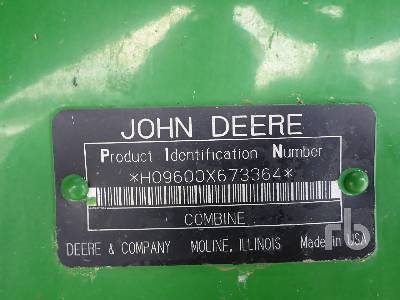 Detail photo of 1997 John Deere 9600 from Construction Equipment Guide