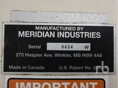 Detail photo of 2004 MERIDIAN GM4000 from Construction Equipment Guide