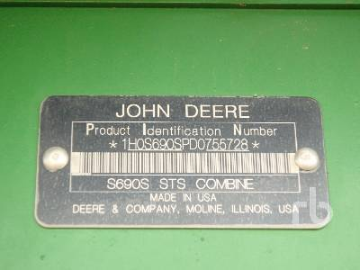 Detail photo of 2013 John Deere S690 from Construction Equipment Guide