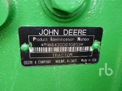 Detail photo of 2007 John Deere 8430 from Construction Equipment Guide