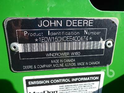 Detail photo of 2014 John Deere W150 from Construction Equipment Guide