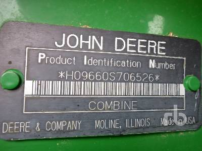 Detail photo of 2004 John Deere 9660STS from Construction Equipment Guide
